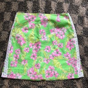 Vintage Lilly Pulitzer Seahorse Floral Print Skirt